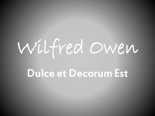 owen dulce et decorum est