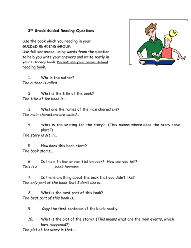 Independant Guided reading Questions