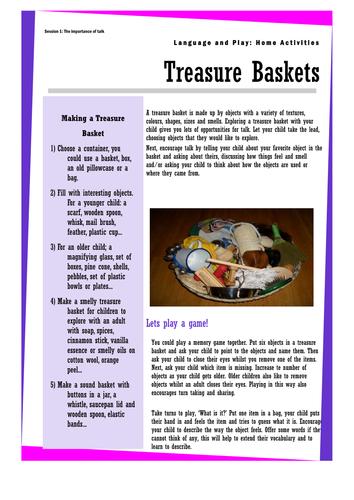 Parent information Treasure Baskets