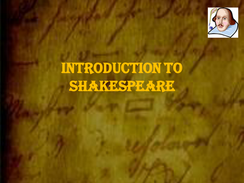 Introductory Lesson to Shakespeare