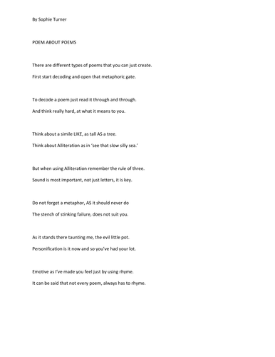 Poem about Poems