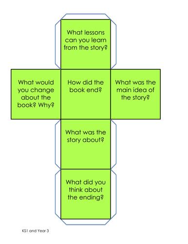 Fiction Reading Question Dice