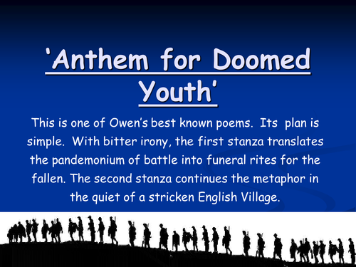 Anthem for Doomed Youth PowerPoint