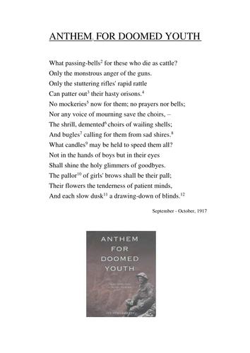 Anthem for Doomed Youth Poem
