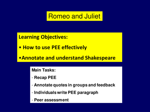 Romeo and Juliet (prologue)