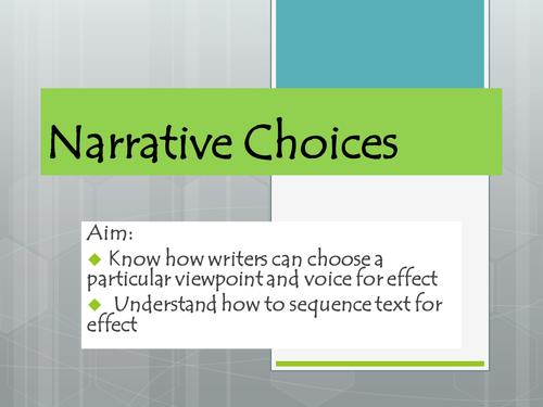 Narrative choices (creative writing)