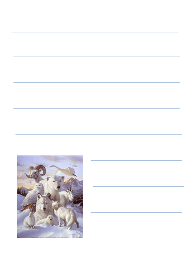 arctic themed writing paper