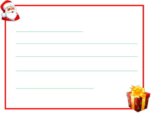 Blank Christmas Paper for Writing