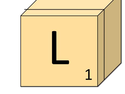 Scrabble Lettering