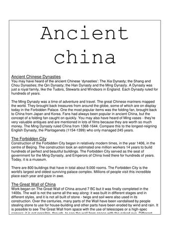 China topic