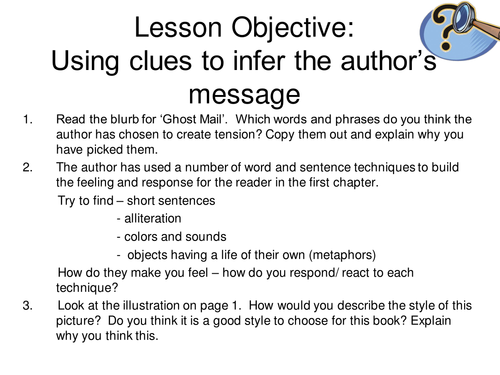 Ghost Mail Guided Reading Resources
