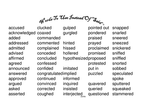 Words to use instead of 'SAID'