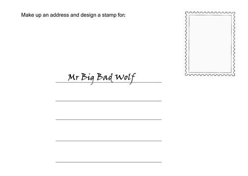 Creative Writing Character Envelopes