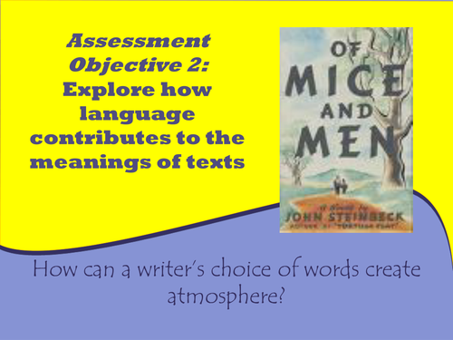 Of Mice and Men language focus