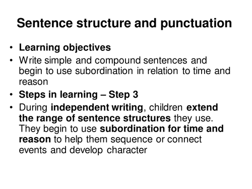 Simple and complex sentences - conjunctions