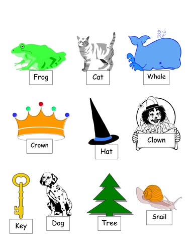 Matching rhyming words for mixed year 1/2 class- worksheets by ...