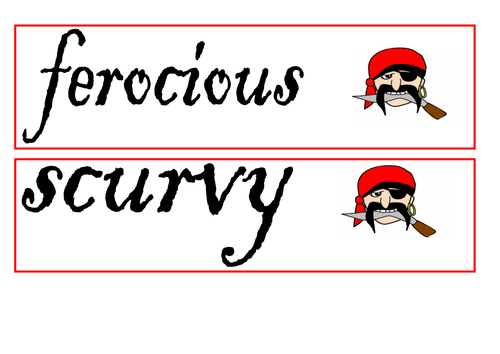 Pirate display - vocab; connectives; openers