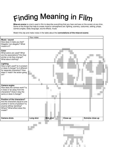 Analyzing a film/ TV program/ advert
