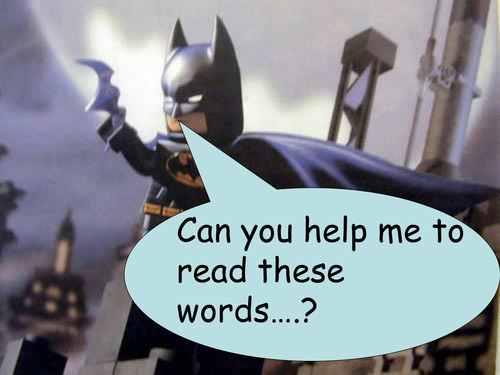 Sight Word PowerPoint with a Batman Theme