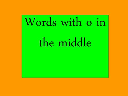 CVC words with medial o