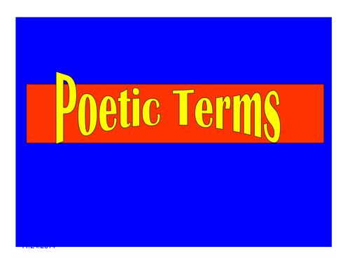 Poetic techniques connect 4