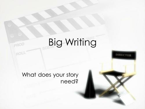 Big Writing Presentation for Stimulus in Lesson