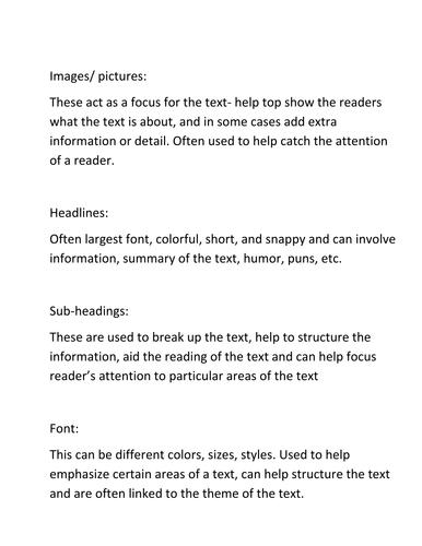 Non fiction texts - carousel activities