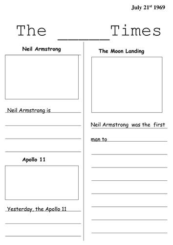 Moon Landing Newspaper templates
