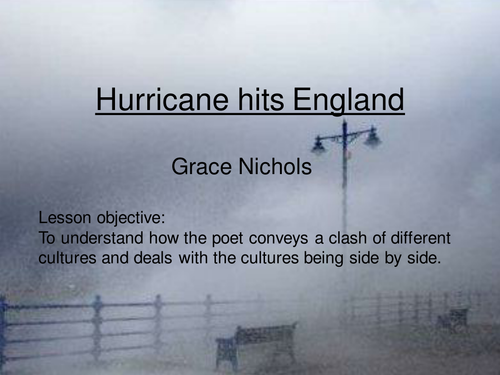 Hurricane Hits England POEM annotated PowerPoint