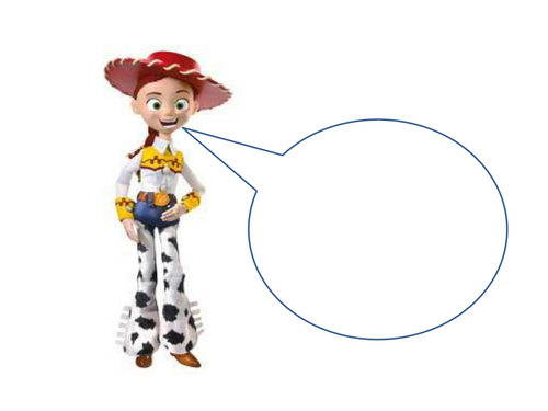 Characters with blank speech bubbles