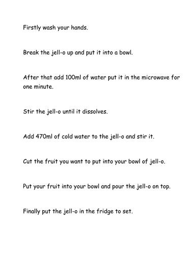 Making Fruit Jell-o
