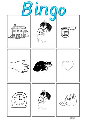 Jolly Phonics bingo and worksheets