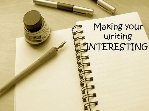 PowerPoint Guide - Making Writing Interesting (creative writing starter?)