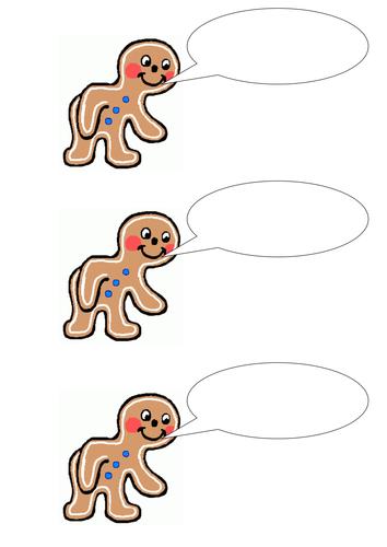 Gingerbread Man Speech Bubbles