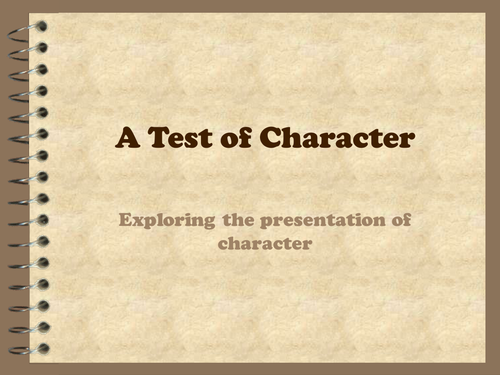 Writing about character