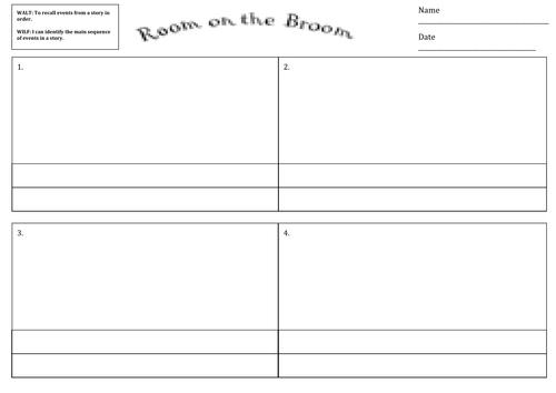 Room on the Broom storyboard template