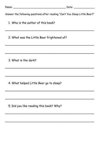 Comprehension ?s  for  Literature Selections