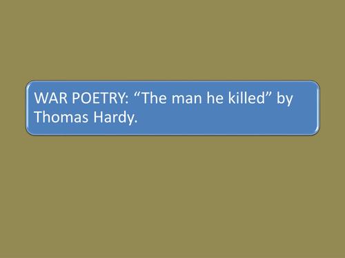 The Man he killed.