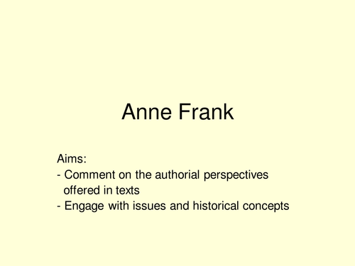 Anne Frank- looking at her diary