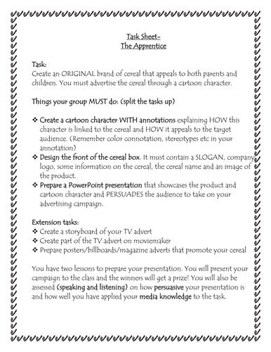 Media task- The Apprentice