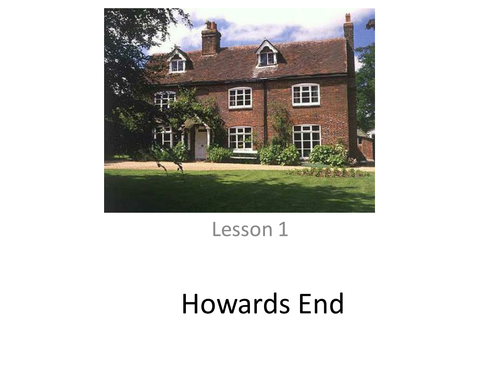Howards End - Background and the First Chapter