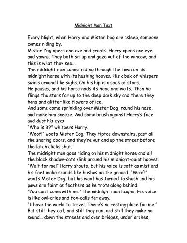 Midnight Man Text