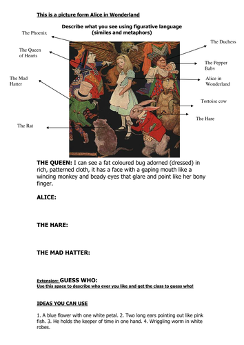 Alice in Similes and Metaphors