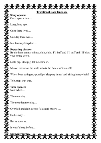 Traditional story language