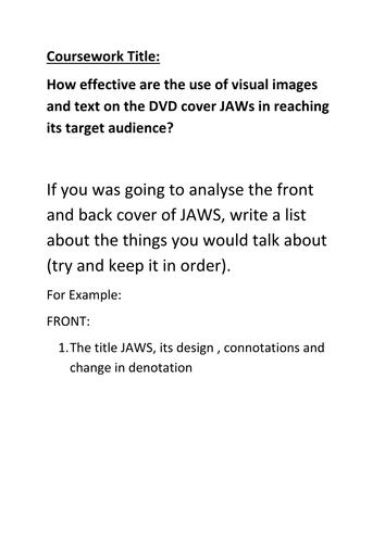 JAWS abridged essay plan.