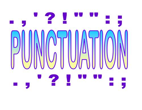 Punctuation Display
