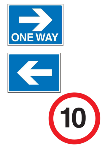 KUW road signs to cut and laminate