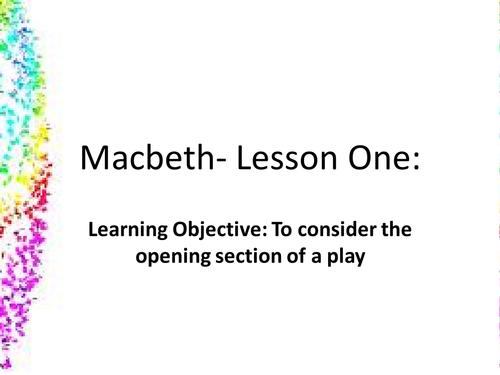 Macbeth- first lesson