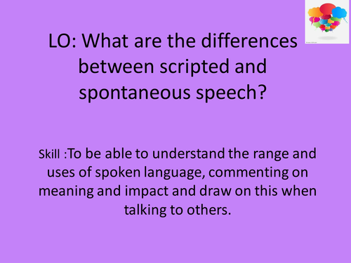 Differences between scripted/ spontaneous speech