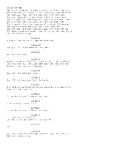 Romeo and Juliet- Film transcript